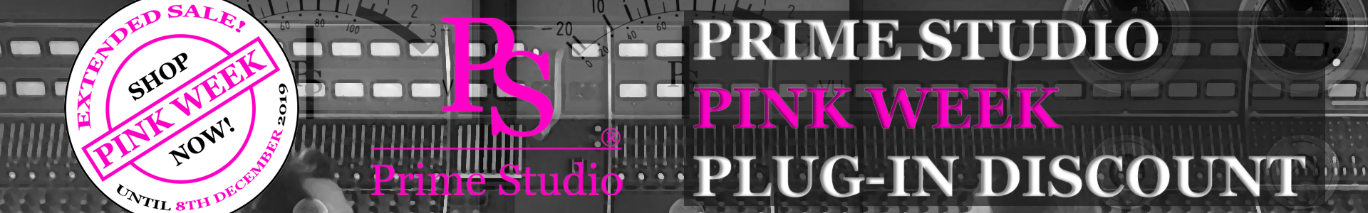 <div><strong>PINK WEEK SALE</strong><br /><h2>BIS ZU 50% RABATT AUF PLUG-INS!</h2>  Jetzt ausgesuchte Prime Studio® Plug-ins vom 29. NOVEMBER bis zum 8. DEZEMBER 2019, um bis zu 50% günstiger bekommen. Auf zum ONLINE SHOP!</div>